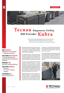 Tecnau Empowers Utility Bill Provider Kubra - Case Study Image