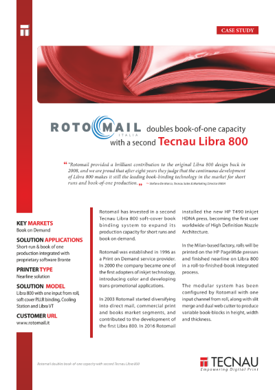 Rotomail doubles book-of-one capacity with second Tecnau