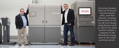 Haberbeck uses Tecnau to process inkjet web press output