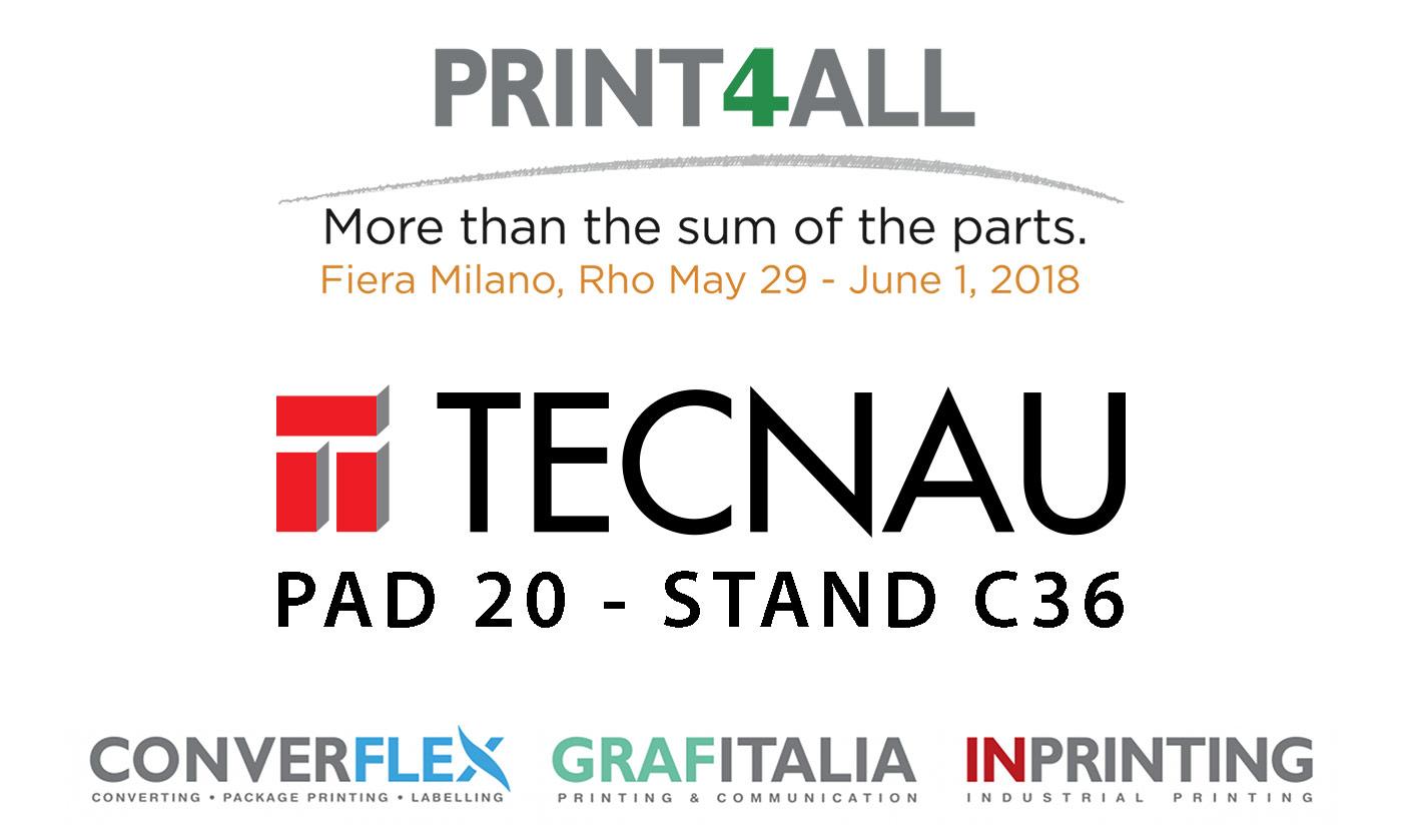 Tecnau at Print4All 2018